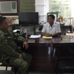 Capt Espineli of the 3rd Mechanized Company Philippine Army paid courtesy call to Mayor Paeng Naral August 14, 2019