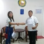 Oathtaking of the Newly Appointed SK Chairperson of Barangay Carmen November 11, 2019