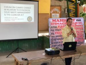 Brgy. San Jose North & Barangay San Jose South Re: Forum on Climate Change (CC)