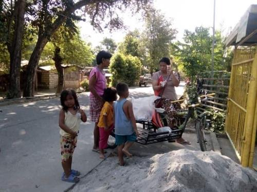 Distribution of RUSF (Ready-to-Use Supplementary Food) at Brgy. Casili